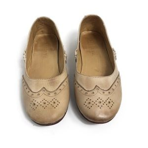Bed Stu Ballet Leather Flats Light Tan Size 7